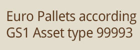 Euro Pallets according GS1 Asset type 99993