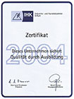 Certificate (Chamber of Commerce and Industry)