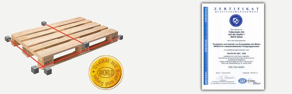 Qualitätsstandard der WORLD Palette